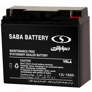باتری صبا 12 ولت 18 آمپر ساعت