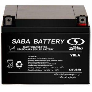 باتری صبا 12 ولت 28 آمپر ساعت