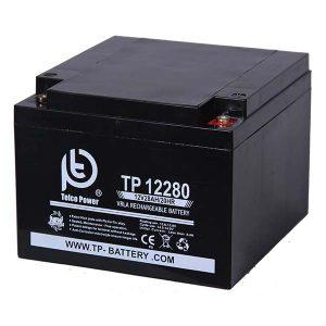 باتری تلکو پاور 12 ولت 28 آمپر ساعت سیلد لید اسید