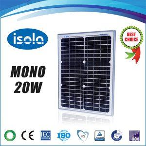 پنل خورشیدی 20 وات OSDA ISOLA مونو کریستال مدل YH20W-18-M
