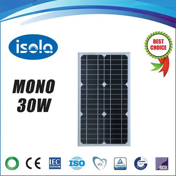 پنل خورشیدی 30 وات OSDA ISOLA مونو کریستال مدل YH30W-18-M