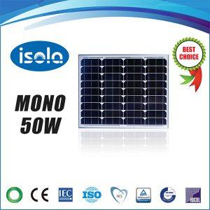 پنل خورشیدی 50 وات OSDA ISOLA مونو کریستال مدل YH50W-18-M