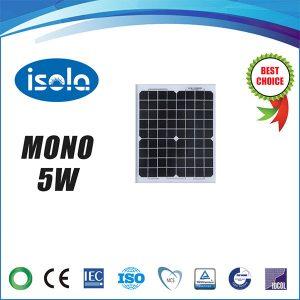 پنل خورشیدی 5 وات OSDA ISOLA مونو کریستال مدل YH5W-18-M